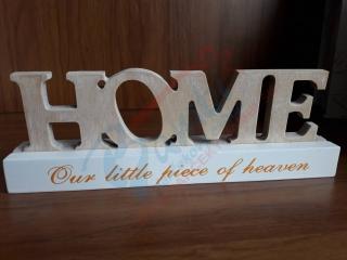 7aacb2f58e92 Dekorácia HOME na podstavci